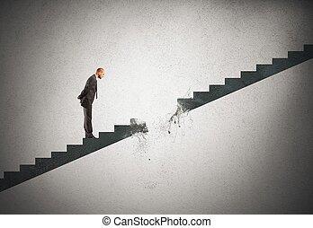 Career break - Concept of break career of a businessman