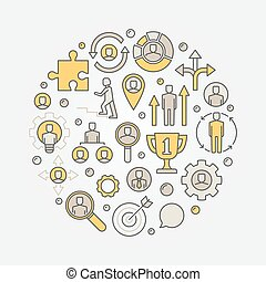 Career colorful illustration