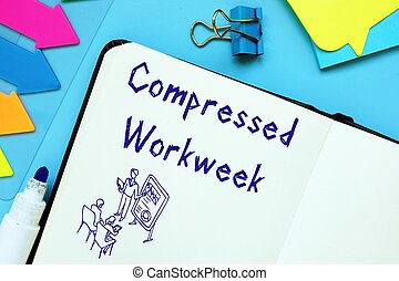Career concept about Compressed Workweek with sign on the page.