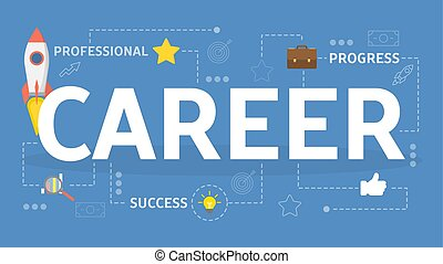 Career concept. Idea of personal growth on job