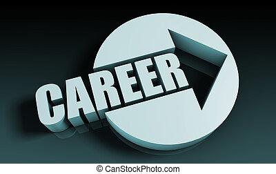 Career Concept With an Arrow Going Upwards 3D