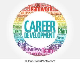 Career development circle word cloud