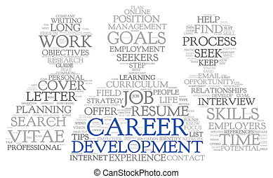 Career development in word tag cloud