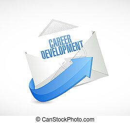 career development meter sign concept