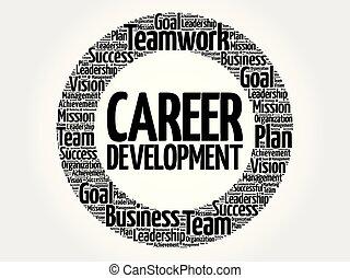 Career development word cloud