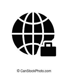 career glyph flat icon