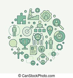 Career green illustration