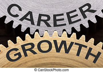 Career Growth Concept On Interlocked Gearwheels