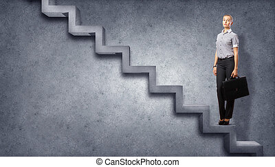 Career Growth - Image of confident business preson with...