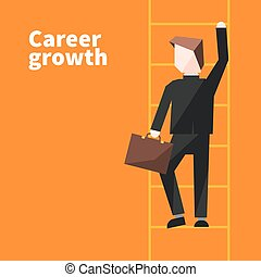 Career growth illustration