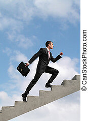 Career growth - Image of confident businessman with...
