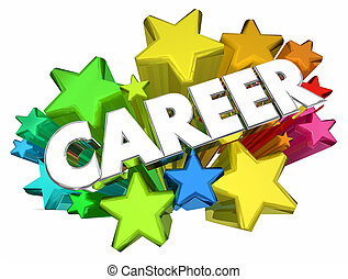 Career Job Work Profession Stars Word 3d Animation
