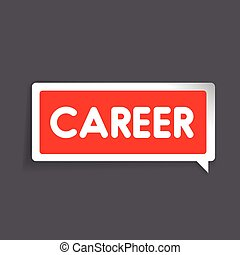 Career label vector red