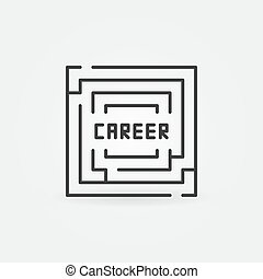 Career labyrinth icon
