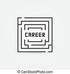 Career labyrinth icon