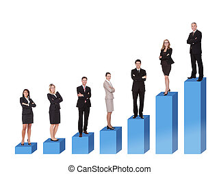 Career ladder - Conceptual image of career ladder. Isolated...