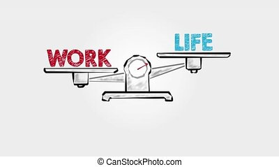 Career Life Balance. Black scale on a gray background.