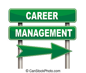 Career management green road sign