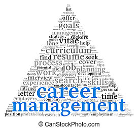 Career management in word tag cloudR