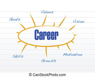 career model illustration design over a white background