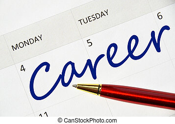Career note in the calendar