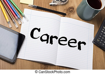 Career - Note Pad With Text