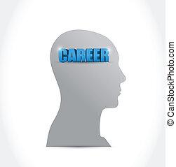 career on my mind. illustration design over a white...