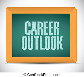 career outlook message on board illustration