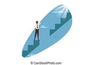 Career problem, business, trouble solution concept