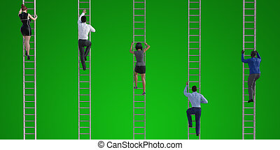 Career Progression in a Business Company Promotion Concept