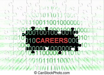 Career puzzle concept