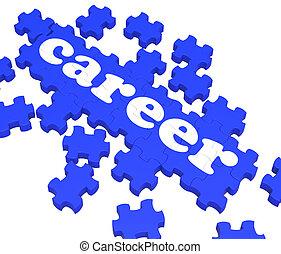 Career Puzzle Showing Job Skills