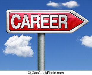 career road sign arrow