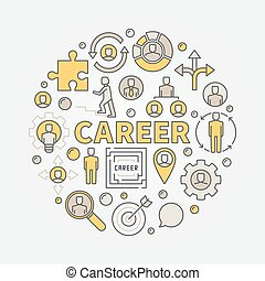 Career round colorful illustration