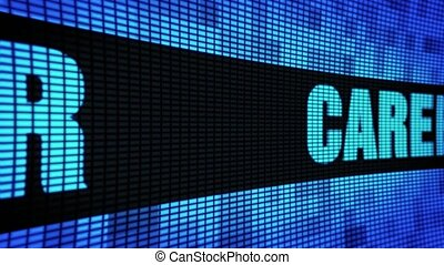 Career Side Text Scrolling LED Wall Pannel Display Sign...