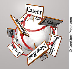 Career Signs Professional Job Path Promotion Change - Many...