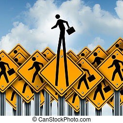 Career Success - Career success and climb to the top concept...