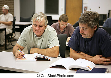 Career Training at Any Age - A man in his fifties going back...