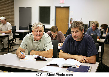 Career Training for Adults - A man in his fifties back at ...