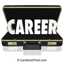 Career Word Black Briefcase New Job Working Position