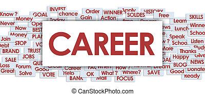 career word in business board