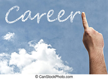 Career word on blue sky