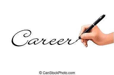 career word written by 3d hand
