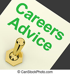 Careers Advice Switch Shows Employment Guidance And Decisions