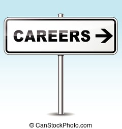 careers directional sign - Illustration of careers sign on...