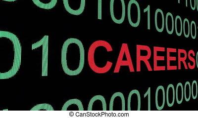 Careers text over binary data
