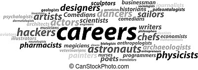 careers tipography vector illustration