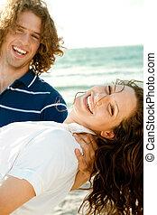 Carefree couple enjoying