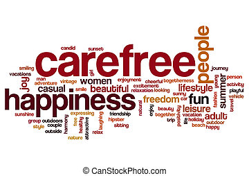 Carefree word cloud concept