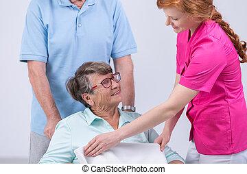 caregiver, en, oude vrouw